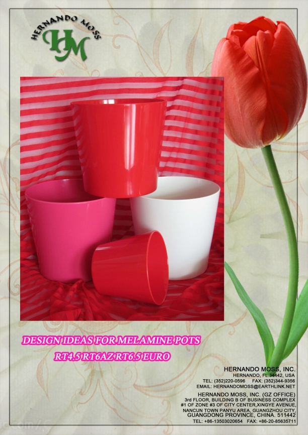 RED COLLECTION MELAMINE POTS